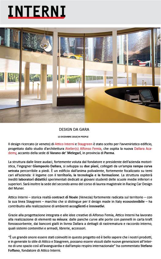 Interni Magazinedallara Academy Attico Interni
